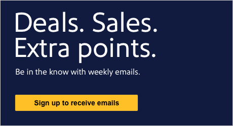 Deals S Extra Points Be In The Know With Weekly Emails Sign