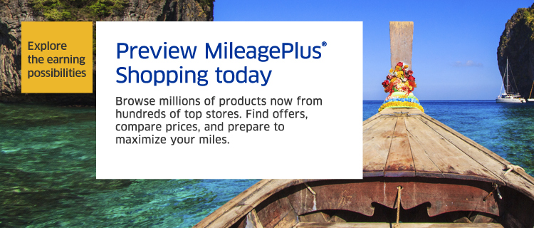 MileagePlus Shopping   MileagePlus Program